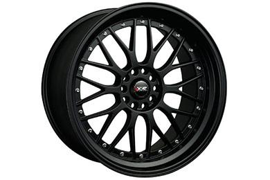 xxr 521 wheels flat black with chrome rivets sample