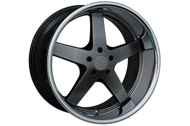 xxr 968 wheels chromium black with chrome lip sample