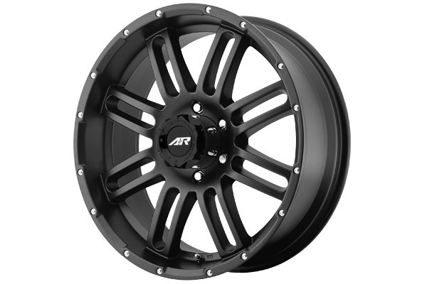 american racing ar901 wheels satin black with satin black face sample