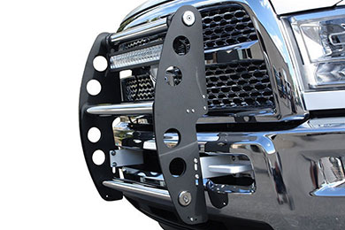 ami swing step grille guard flat black polished sample