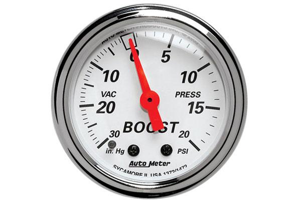 auto meter street rod arctic white 1372