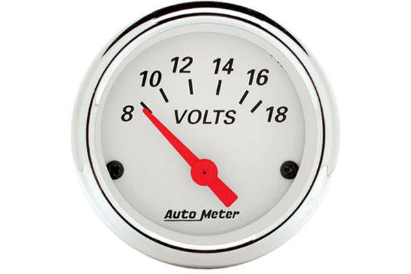 auto meter street rod arctic white 1391