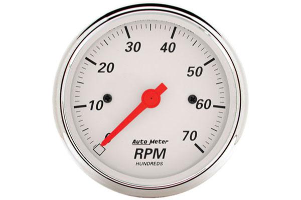 auto meter street rod arctic white 1398