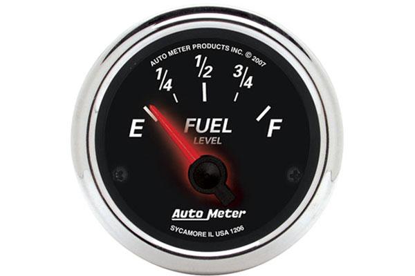 Auto Meter 1206 Designer Black II 2-1//16 Short Sweep Electric Fuel Level