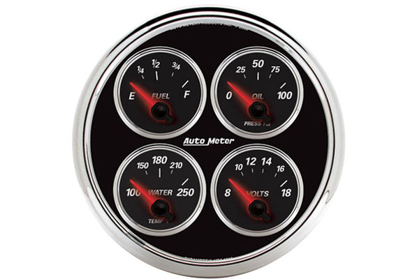 auto meter street rod designer black II 1211