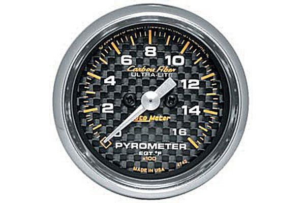 autometer carbon fiber 4744