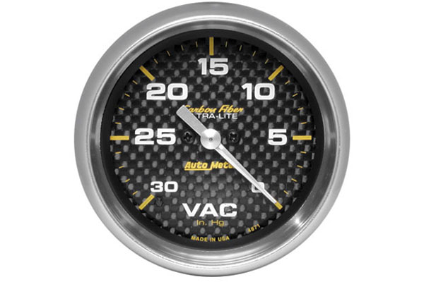 autometer carbon fiber 4871
