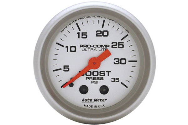 AutoMeter Ultra-Lite Gauges - 4304 Boost - Full Sweep/Mechanical