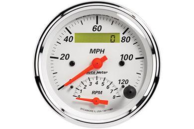 auto meter street rod arctic white 1381