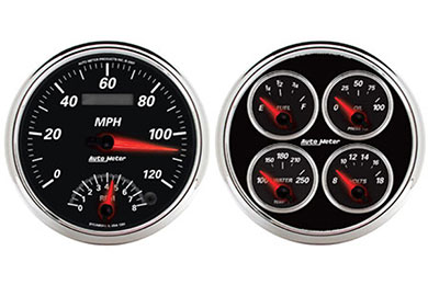 auto meter street rod designer black II 1204