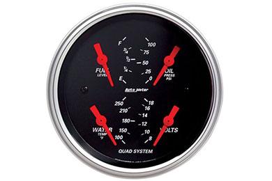 autometer street rod designer black 1412