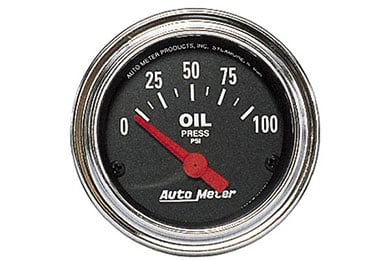 autometer traditional chrome 2522