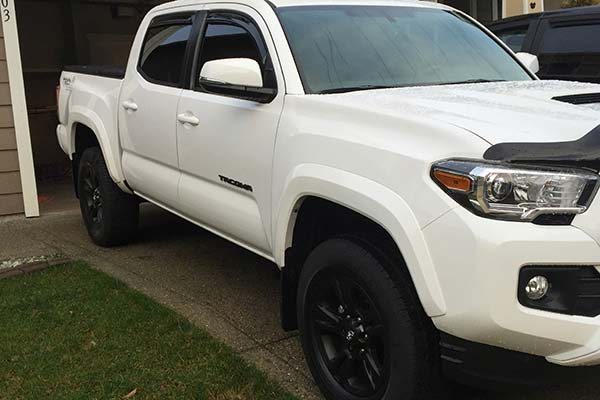 In-Channel Wind Deflectors 2001-2004 Toyota Tacoma Double Cab 4-Door