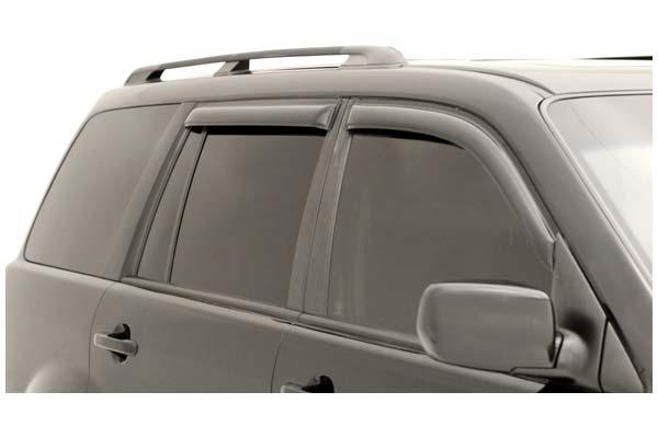 AVS 94744 Tape-On Window Shades Ventvisors 4-Piece Smoke 2003-2008 Honda Pilot