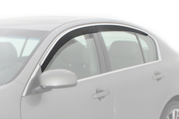avs low profile ventvisor car front rear