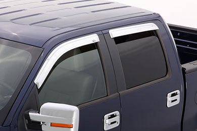 avs chrome vent visors front rear set sample image