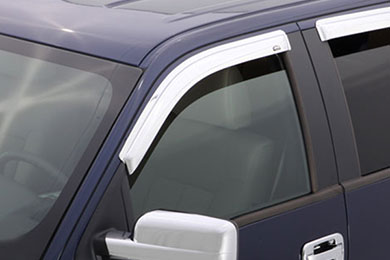avs chrome vent visors front set sample image