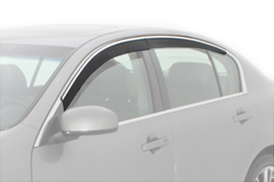 avs low profile ventvisor car front rear w chrome