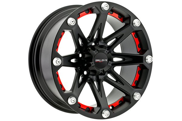 ballistic off road 814 jester wheels flat black with black spokes sample
