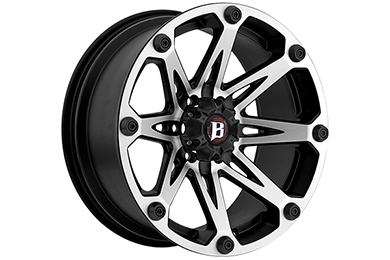 ballistic off road 814 jester wheels flat black with machined spokes sample
