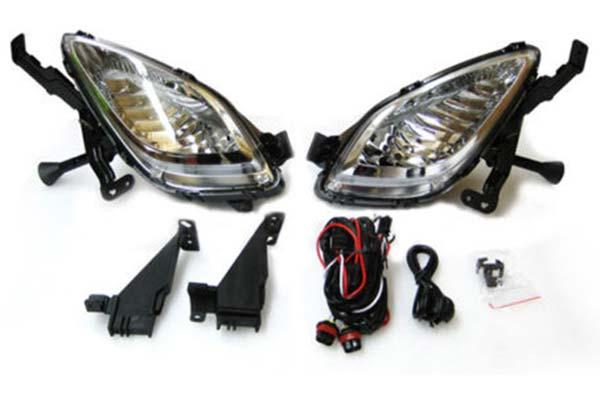 2012 Hyundai Elantra Black Horse Off Road OEM Replica Fog Lights, Lights - OEM Replica Fog Light