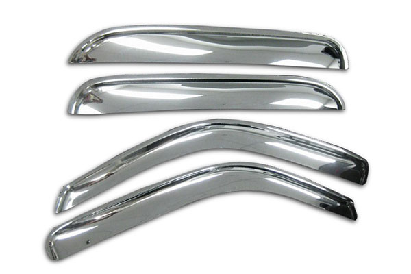 black horse rain guards chrome front rear sample