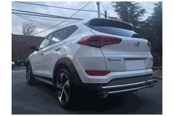 Broadfeet Rear Bumper Gurad Protector Double Layer For Hyundai Tucson 2016-2018