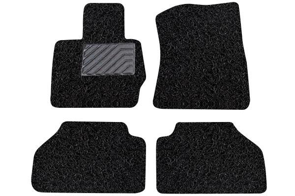 broadfeet coil floor mats 2 piece front 2 piece rear black sample