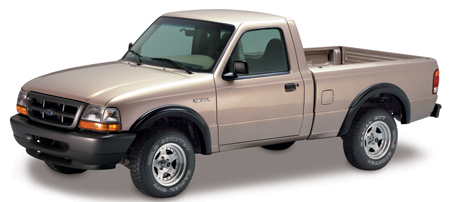 93 03 Ford Ranger Cut Out Fender Flare Front Pair Bushwacker 21027