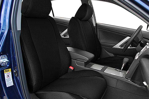 caltrend sportstex poly cotton seat covers black sample