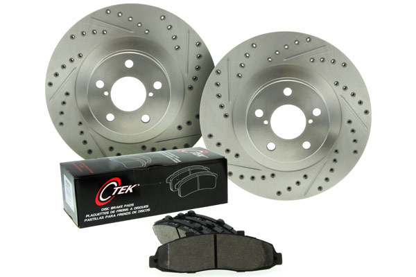 centric c-tek drilled and slotted sport brake kit sample