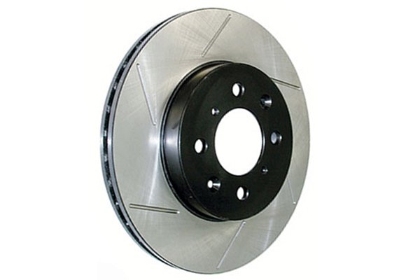 centric premium high carbon oe design slotted brake rotors right
