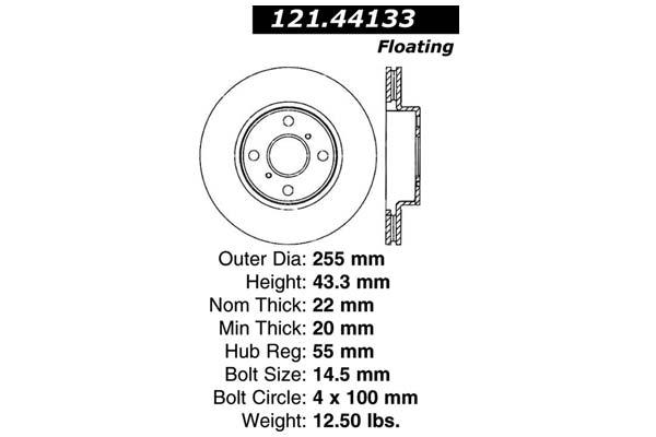 centric 121.44133 dia