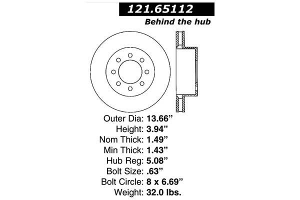 centric 121.65112 dia