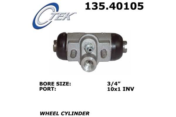 Drum Brake Wheel Cylinder-C-TEK Standard Wheel Cylinder Rear Right Centric
