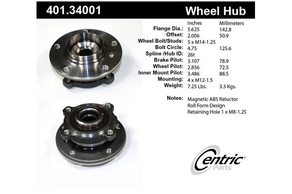centric-CE 40134001 Fro