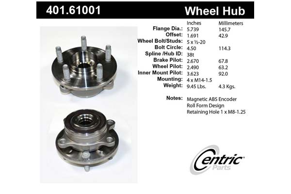 centric-CE 40161001 Fro
