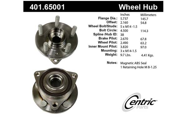 centric-CE 40165001 Fro