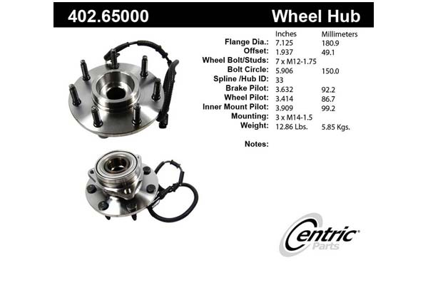 centric-CE 40265000 Fro