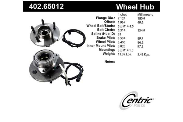 centric-CE 40265012 Fro