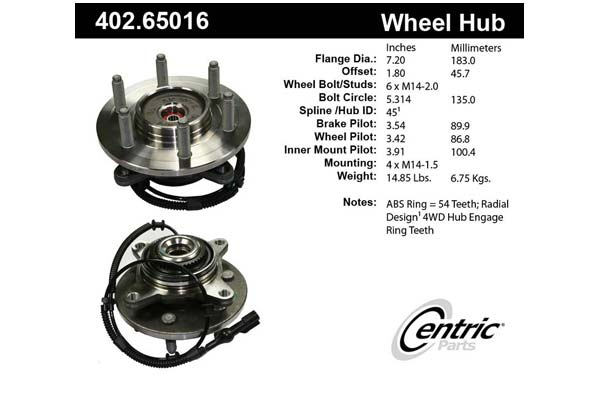 centric-CE 40265016 Fro