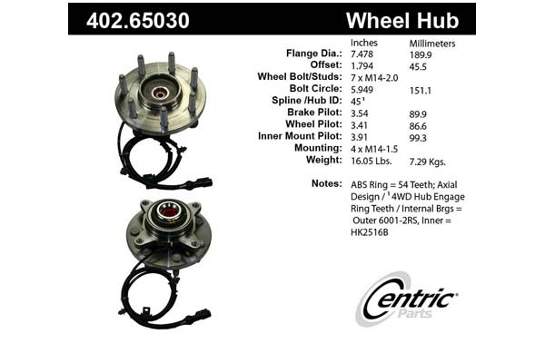 centric-CE 40265030 Fro