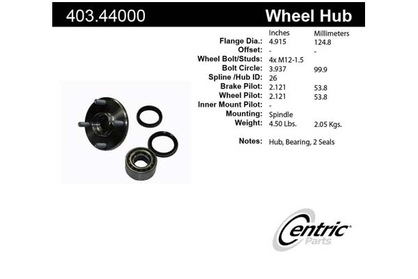centric-CE 40344000 Fro