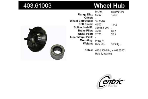 centric-CE 40361003 Fro