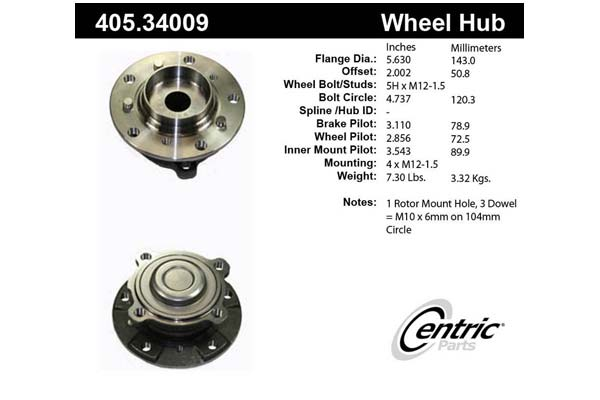 centric CE 40534009 Fro
