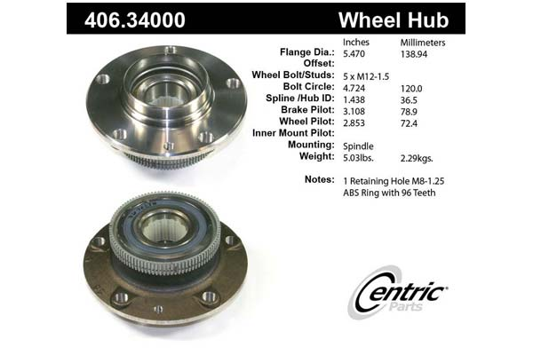 centric-CE 40634000 Fro