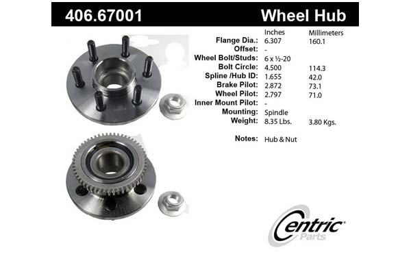 centric-CE 40667001 Fro