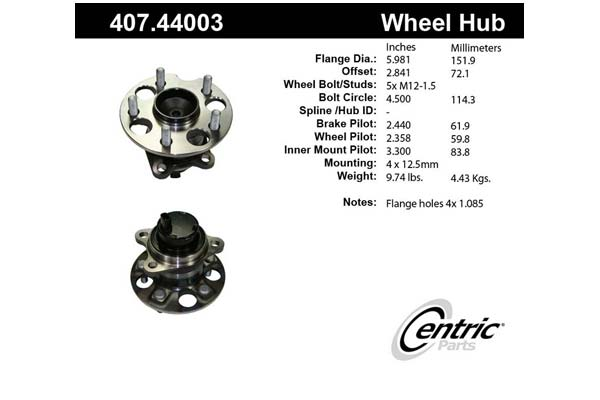 centric-CE 40744003 Fro
