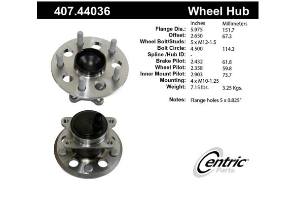 centric-CE 40744036 Fro