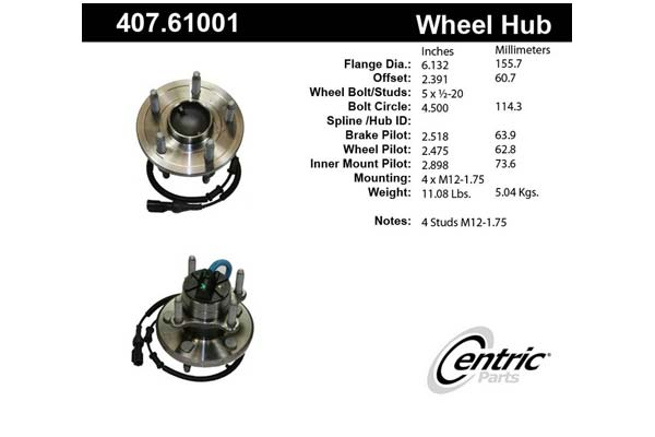 centric-CE 40761001 Fro